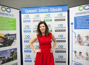 Charli with Connect Inform and Educate Banner