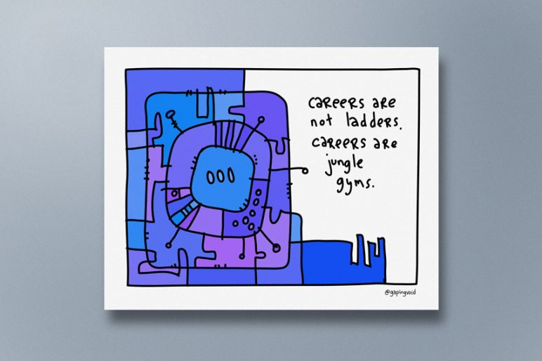 gapingvoid_Careers are not ladders